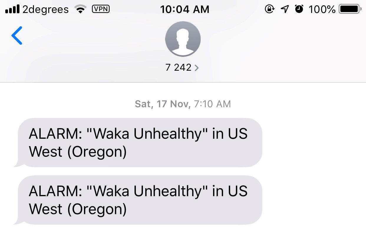 SMS Notifications for Health Checks